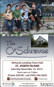 The O'Schraves Concert Poster, Nov. 16/13