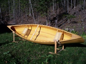 Canoe built at AlgomaTrad 2010