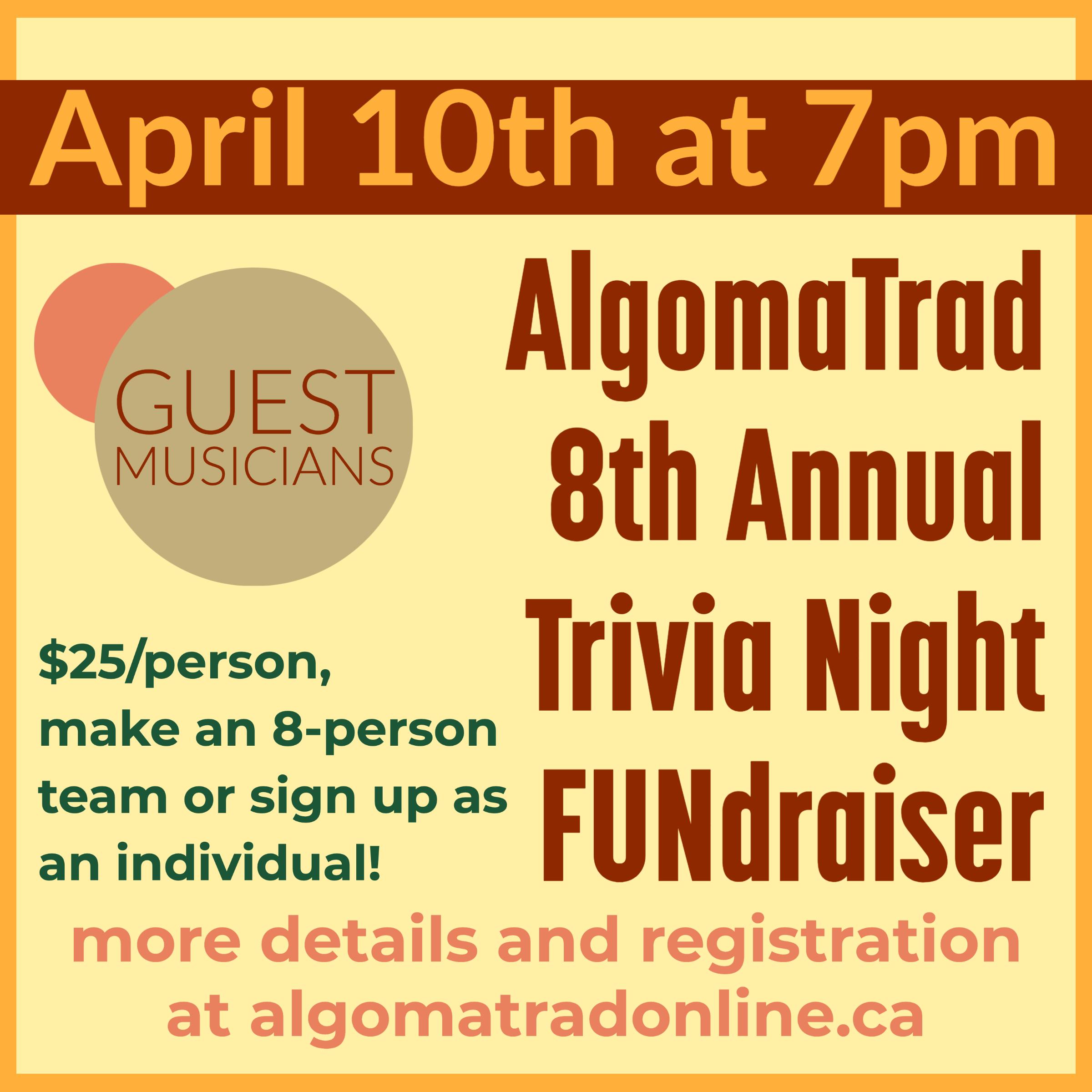 AlgomaTrad Trivia Night Online Fundraiser